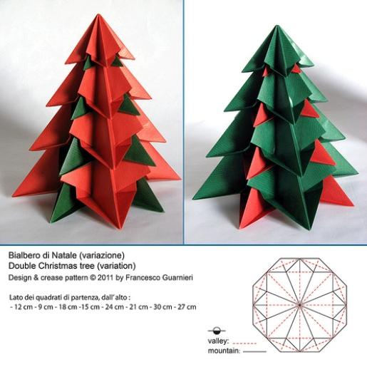 Как сделать быстро елку из бумаги