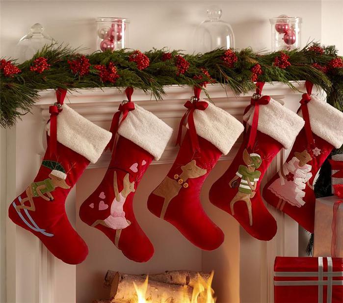 Сапожек рождественский своими руками
