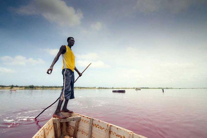 розовое озеро ретба в сенегале 2 (700x464, 32Kb)