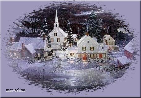 Городок-зимой (455x316, 225Kb)