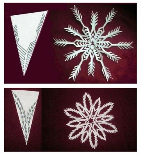 Украшение из бумаги на новый год снежинка
