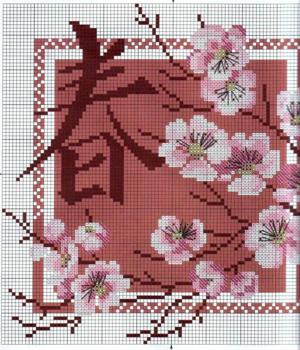 Схема вышивки сакуры скачать бесплатно