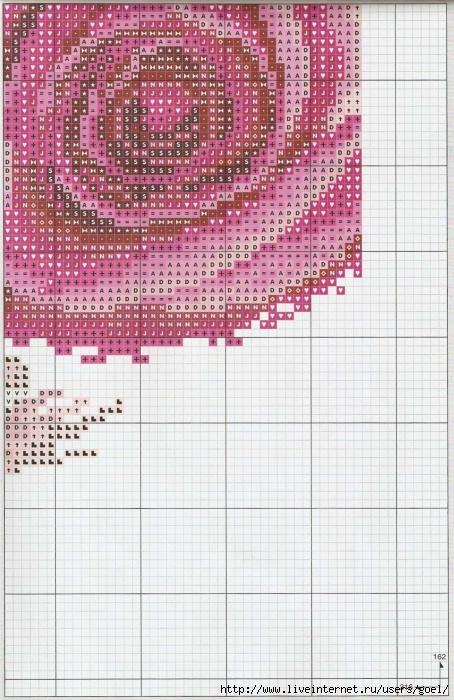Часы с розой.