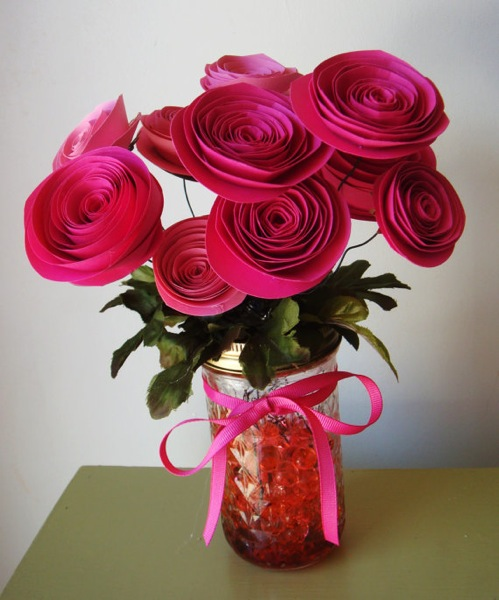 Hot-pink-fuchsia-paper-roses-bouquet (499x600, 85Kb)