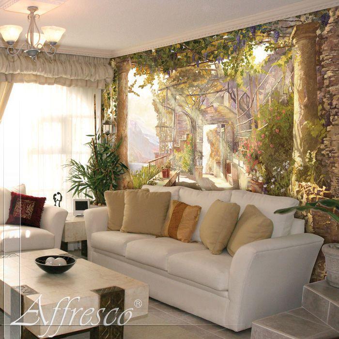 Обои фрески в интерьере квартиры фото