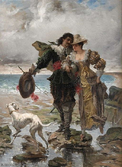 edmond-louis-dupain-a-romantic-stroll (513x700, 303Kb)