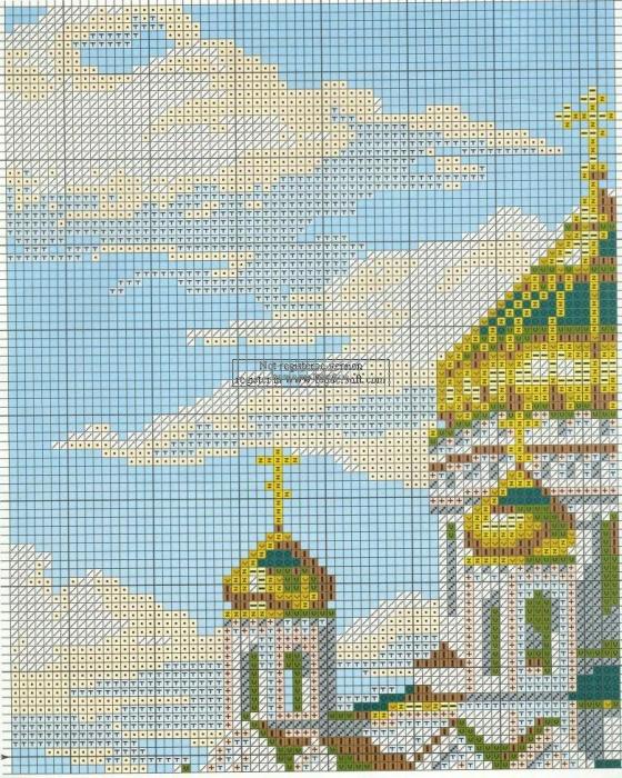 Вышивка риолис храм христа спасителя 44