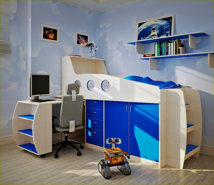 Wall mounted study table designs