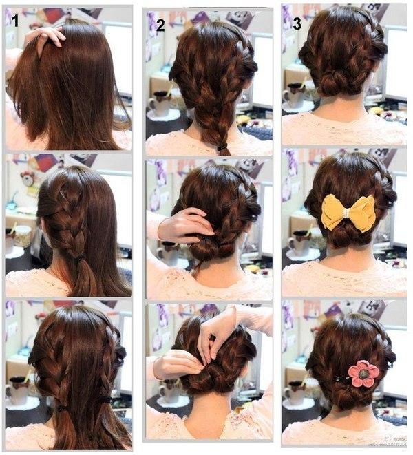 Стрижка своими руками на средние волосы