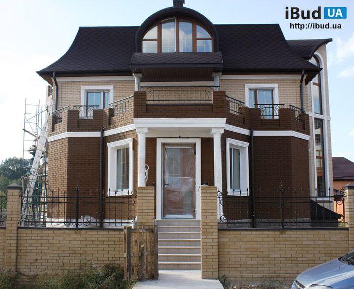 Дом дизайн фасада из кирпича