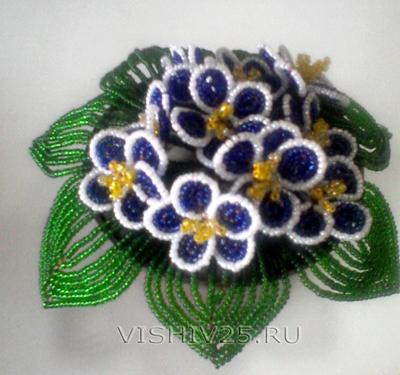 Плетение из бисера фиалки