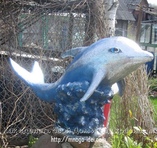 Дельфин из монтажной пены пошаговое фото