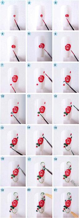 Как нарисовать простой узор на ногтях в домашних условиях