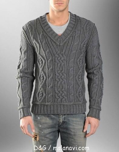 мужские-пуловеры-спицами (393x500, 60Kb)