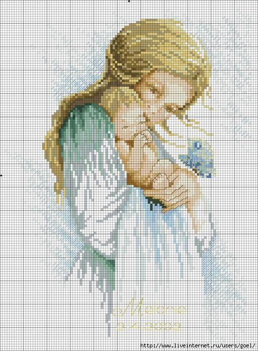 Схема мама с ребенком вышивка крестом схема
