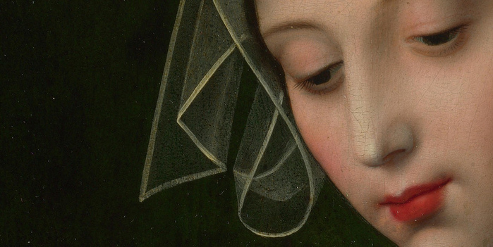 The Magdalen Reading (Detail), Ambrosius Benson (700x351, 121Kb)
