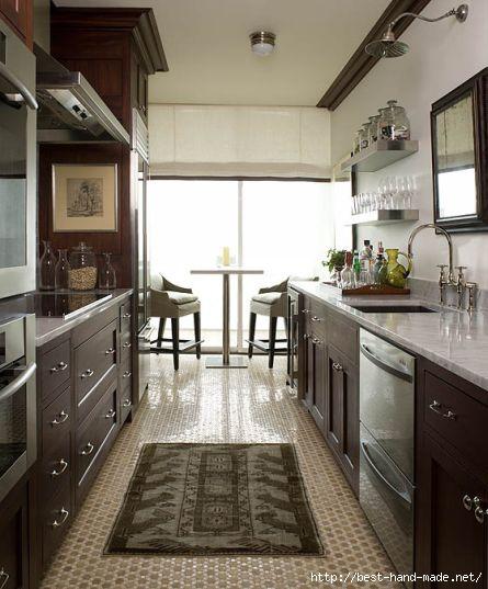 phoebe howard mosaic floor kitchen dark wood light tops (445x537, 125Kb)