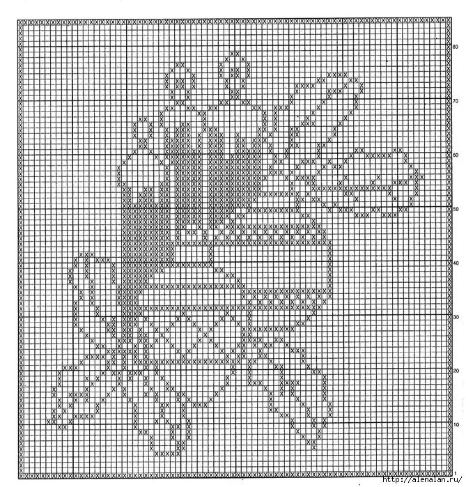 Новогодняя скатерть крючком филейное вязание 26