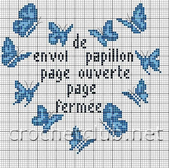 бабочки схемы рисунки