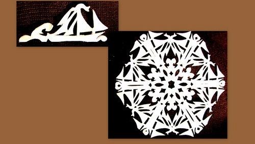 """手工剪纸:""""显赫的雪花"""" - maomao - 我随心动"""