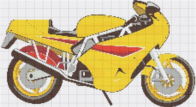 Вышивка. Мотоциклы