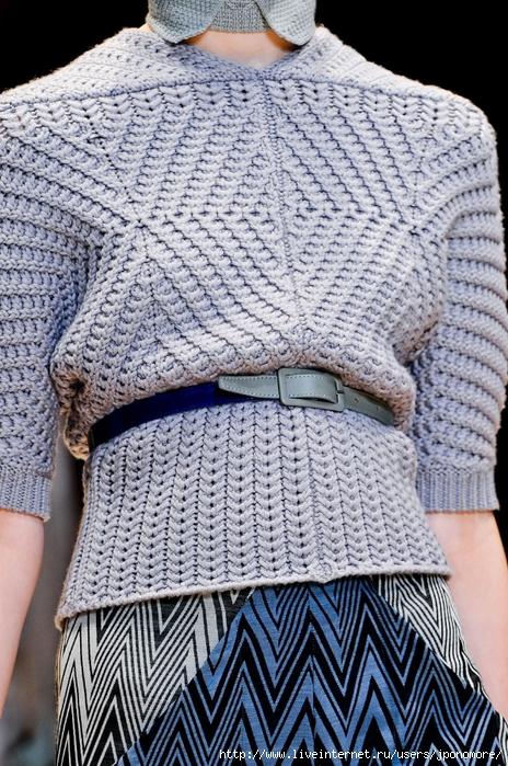 """针织上衣:""""法式对角线"""" - maomao - 我随心动"""