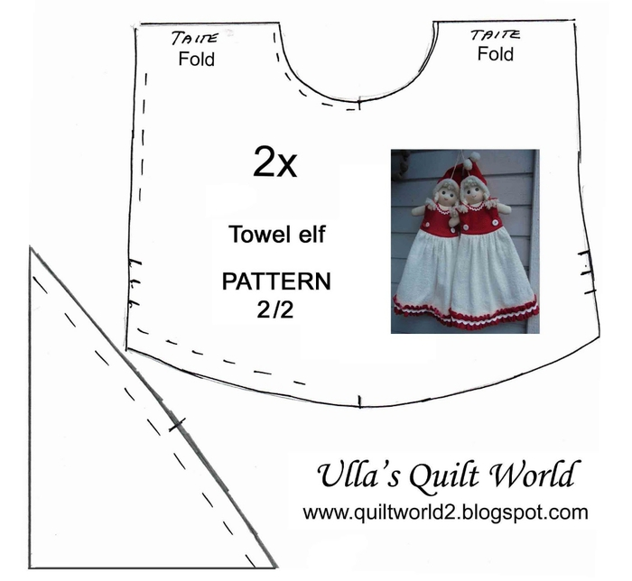 10 Towel elf quilt pattern 2 pix OK (700x644, 115Kb)