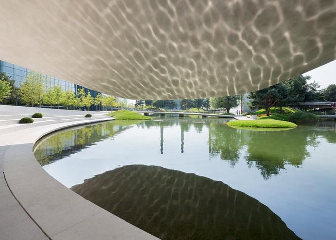 Павильон porsche от henn architekten вольфсбург германия