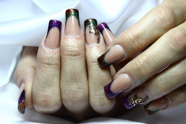 красивые новогодние ногти фото