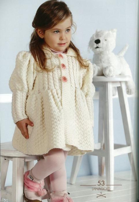 Вязаные пальто для детей ::