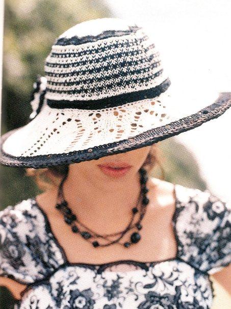 Вязание летних шляп спицами 93