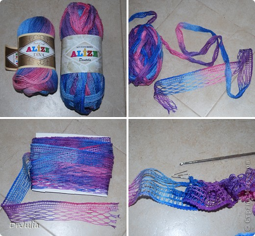 Вяжем юбки из ленточной пряжи крючком