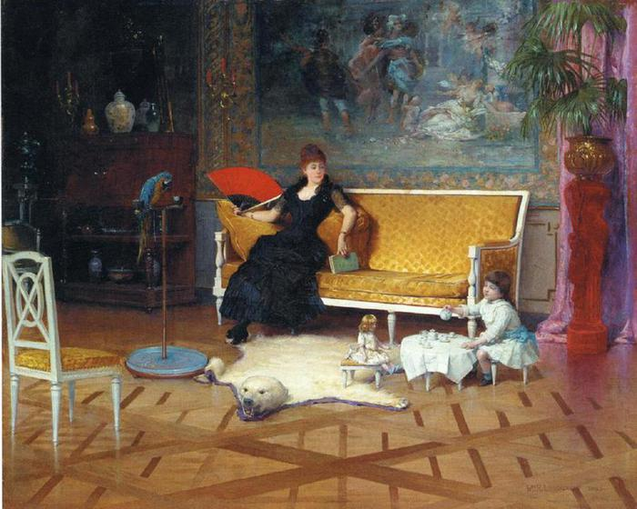 William Lippincott_-1885_-Afternoon-tea_ (700x560, 66Kb)