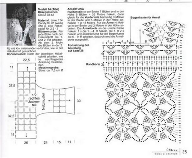 Схема для вязания летнего берета