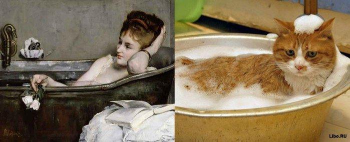 Альфред Стивенс, «В ванной» (1867) (700x284, 43Kb)