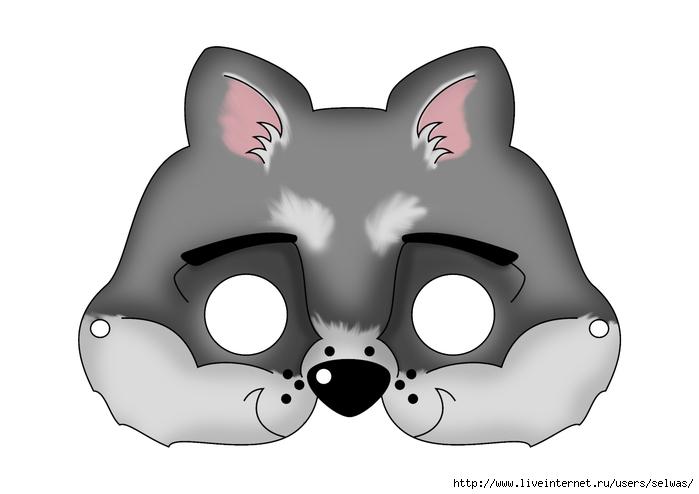 Маски животных картинки для детей 5