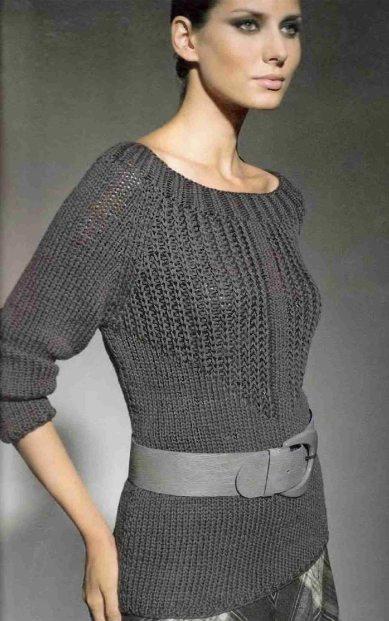 вязаный пуловер (389x621, 51Kb)