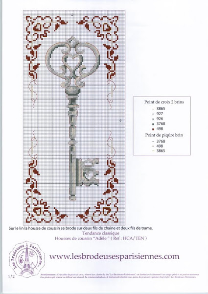 Вышивки схемы ключик