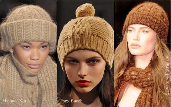модные вязаные шапки на зиму 2012 года со схемой вязания.