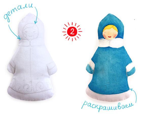 Шьем Снегурочку и Деда Мороза на елку