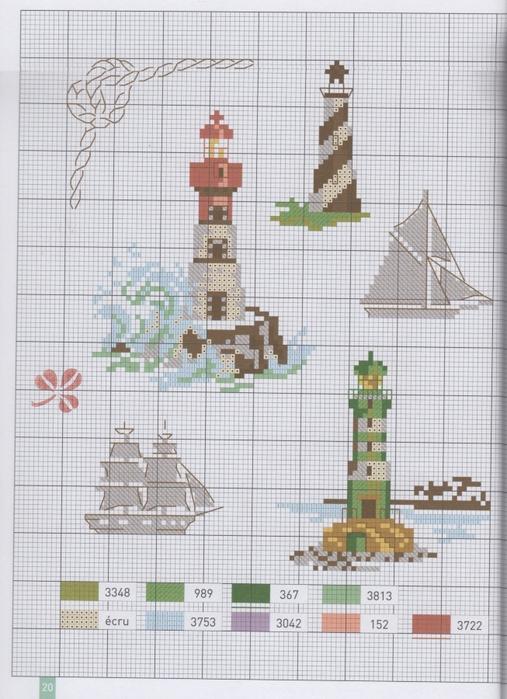 Схема вышивка морская