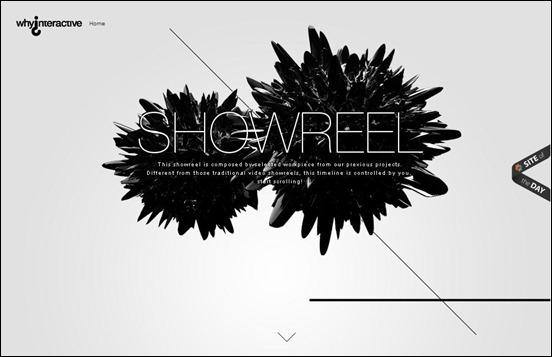 «Диагональный» дизайн сайта Фотографии
