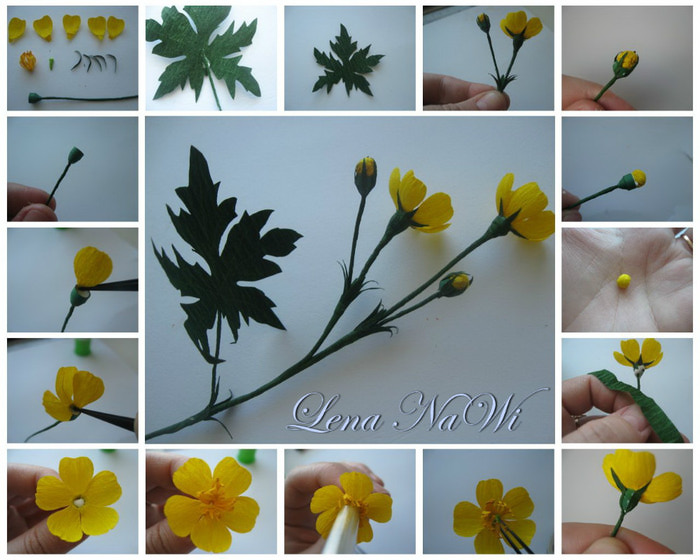 Полевые цветы своими руками из бумаги