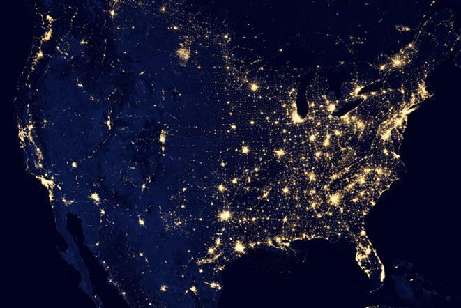 Черный мрамор: Земля ночью Фотографии, видео