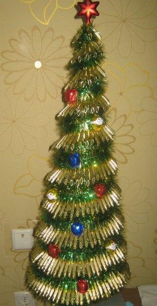 Новогодняя елка из макарон своими руками мастер класс видео - Ekolini.ru