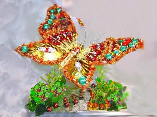 Колобок иБукеты из конфет на 14 февраля