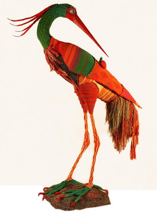 Вязанные птицы от Alice Wolfe