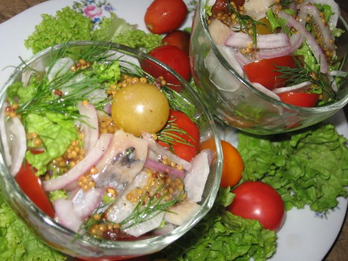 Вкусные салаты из селедки фото