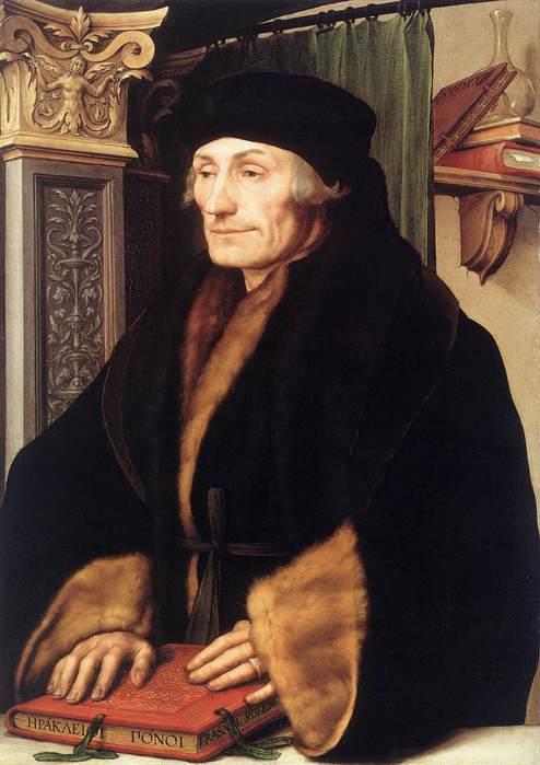 Ганс Гольбейн Младший, портрет Эразма Роттердамского, 1523 (494x700, 43Kb)