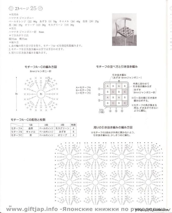 128Накидки квадратные на табуретки вязанные крючком схемы
